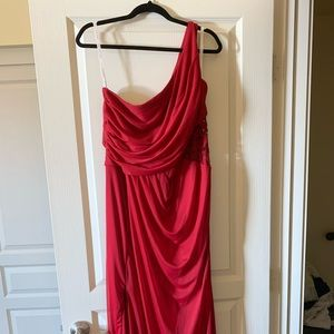 David's Bridal Apple Color Bridesmaid Dress
